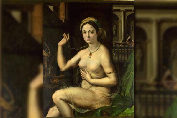 Картина «Дама за туалетом» (начало 1520-х), выполненная художником Джулио Пиппи, по прозвищу Романо (Римлянин), учеником Рафаэля, обнаруживает близость к «Форнарине». Как можно заметить, Романо близко следует образцу, однако он значительно смелее открывает фигуру своей героини, сделав ее почти полностью обозримой.