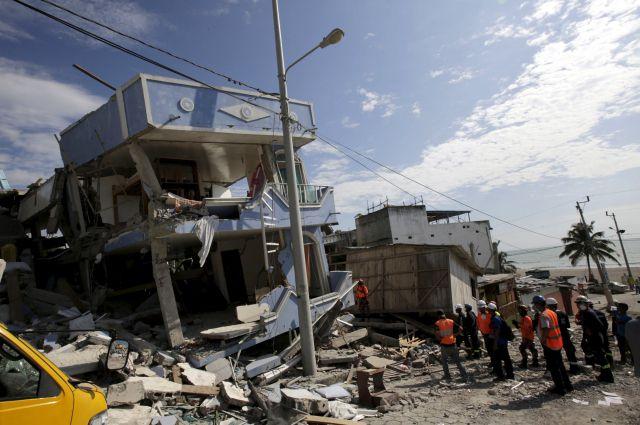 ВЭквадоре растет число погибших  разрушительного землетрясения