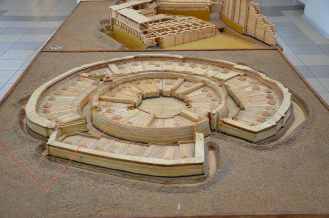 Макет поселения в Аркаиме