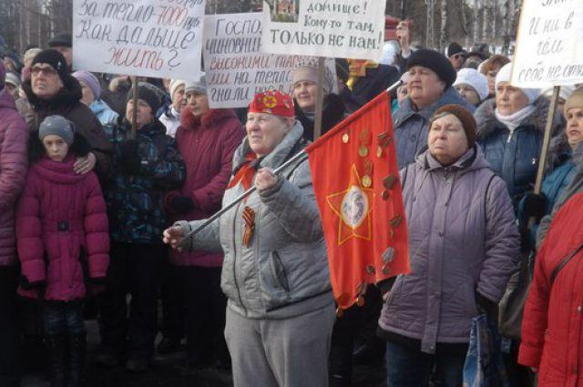 В районах Карелии все чаще вскипают митинговые страсти