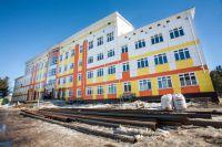 Строящаяся школа-детсад в Ханты-Мансийске.