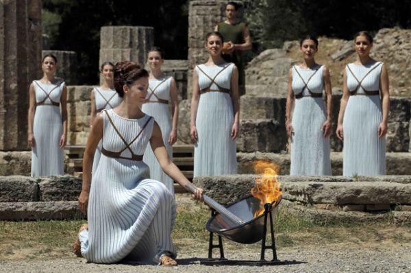 Церемония состоялась за три с половиной месяца до старта XXXI Олимпийских игр.