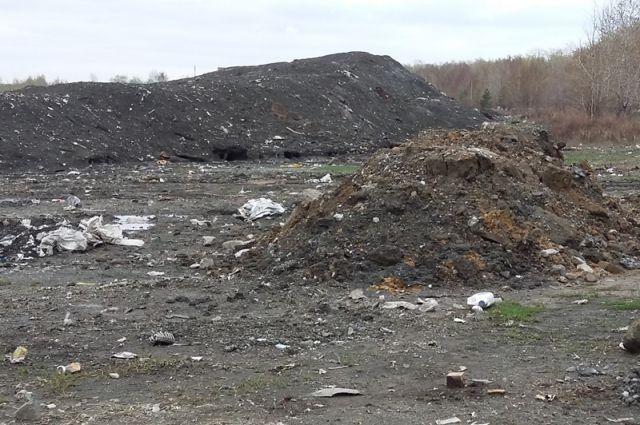 На улице Радонежской экологи обнаружили свалку грязного снега и мусора.