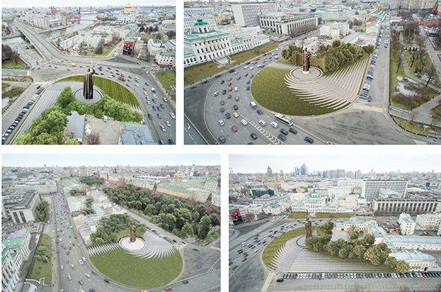 Проект памятника князу Владимиру на Боровицкой площади.