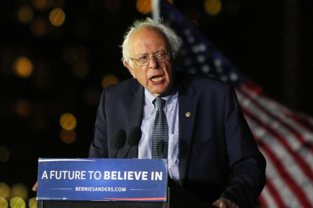 Кандидат в президенты США от Демократической партии Берни Сандерс.