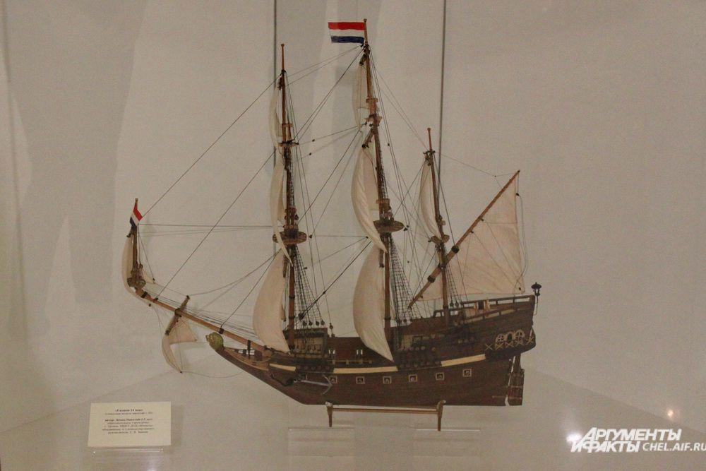 «Галион XIV век», стендовая модель, масштаб 1:50.