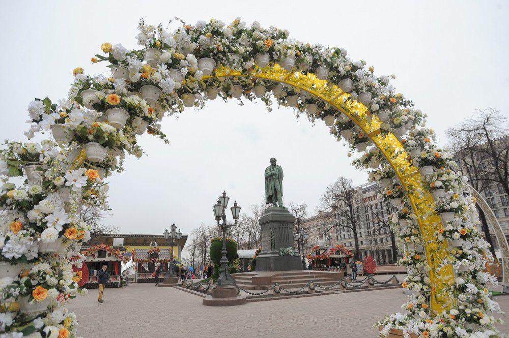 Площадка «Православная Пасха в мире» на Тверской площади.