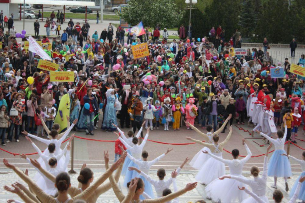 Здесь состоялся грандиозный танцевальный флешмоб.