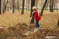 Жители убирали не только мусор, но и прошлогоднюю листву.