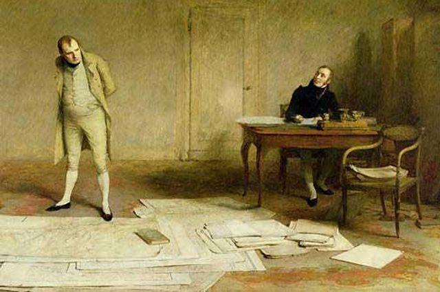 Наполеон диктует мемуары Лас Казу. Орчардсон (XIX век)