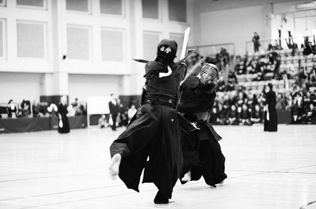 Соревнования по кендо - не просто бой на мечах, но и поединок силы духа.