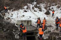 Работы по ликвидации оползня начались буквально 5 апреля.