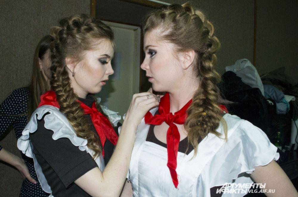 Ольга Терентьева перевоплотилась в Олю из «Королевства кривых зеркал», раскрыть образ ей помогала сестра-близняшка.