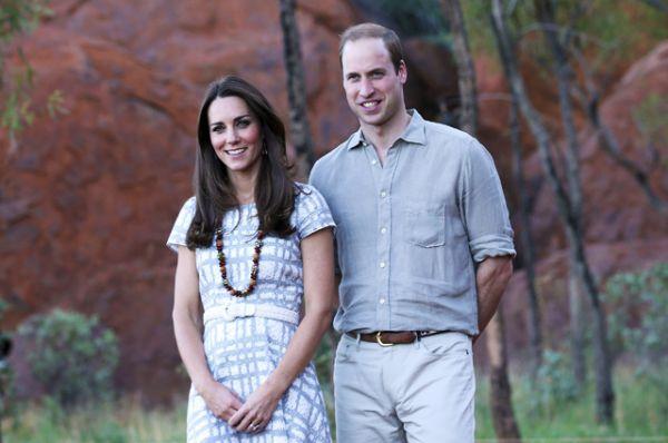 22 апреля 2014 года. Герцогиня Кэтрин и принц Уильям во время королевского трехнедельного тура по Новой Зеландии и Австралии.