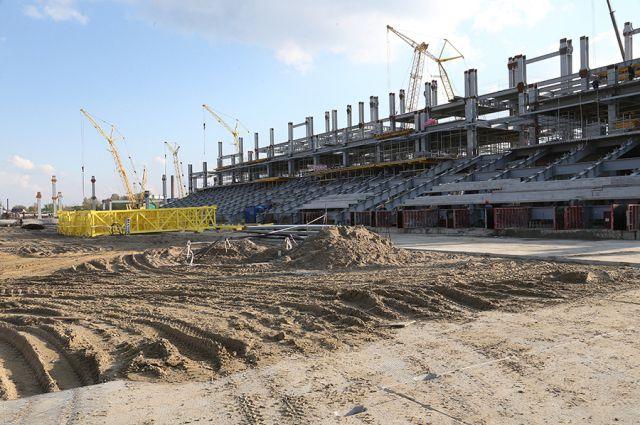 Чаша арены стадиона в Калининграде к ЧМ-2018 будет готова к августу.
