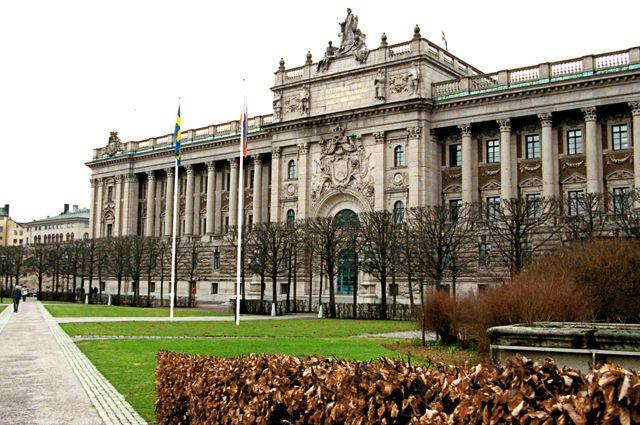 Здание Парламента в столице Швеции городе Стокгольме.