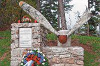 Мемориал из фрагментов самолёта. Австрия.