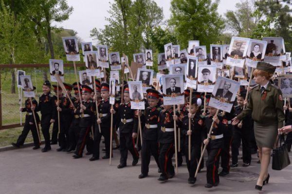Масштабную патриотическую акцию в Ростове-на-Дону провёл ДГТУ. Будущие студенты - кадеты Второго Донского Императора Николая II кадетского корпуса - тоже в строю.