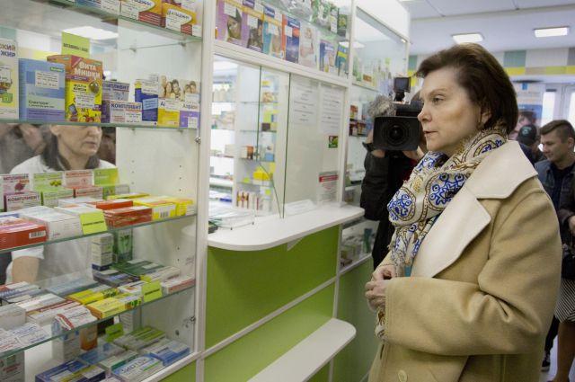 Наталья Комарова в одной из аптек Сургута.