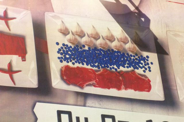 Не каждый увидит в этом натюрморте российский флаг. Но некоторых нижегородцев он возмутил.