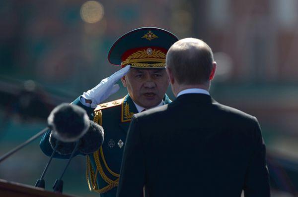 Министр обороны Сергей Шойгу и президент России Владимир Путин.