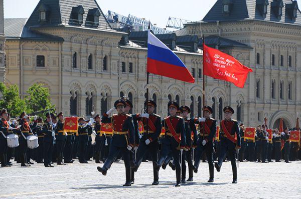 Знамя Победы на Красной площади.