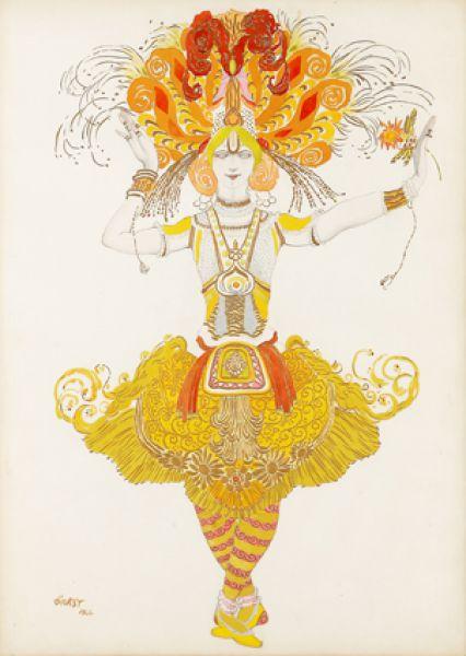 Эскиз костюма Жар-птицы к балету «Жар-птица», 1922 год.