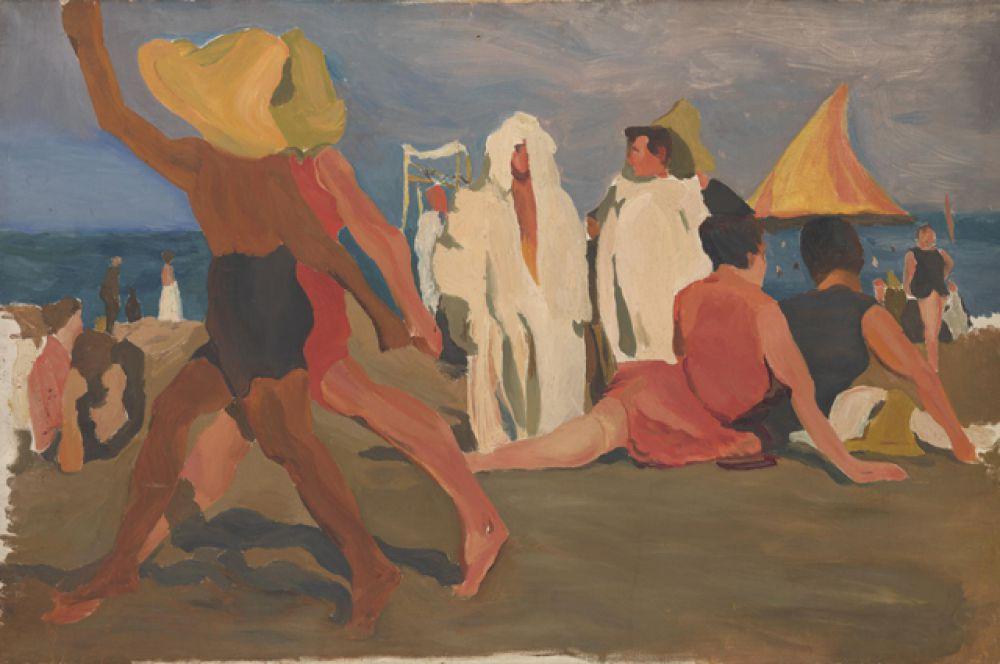 «Купальщики на Лидо. Венеция», 1923 год.