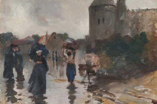 «Улица в дождь. Франция», 1893 год.