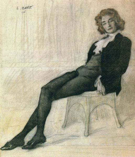 Портрет Зинаиды Гиппиус, 1906 год.
