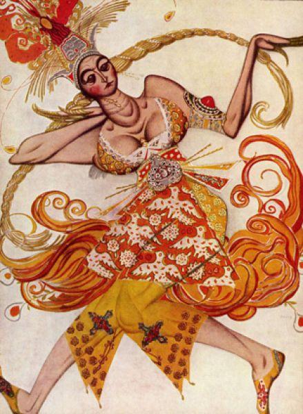 Эскиз костюма к балету Игоря Стравинского «Жар-птица», 1910 год.