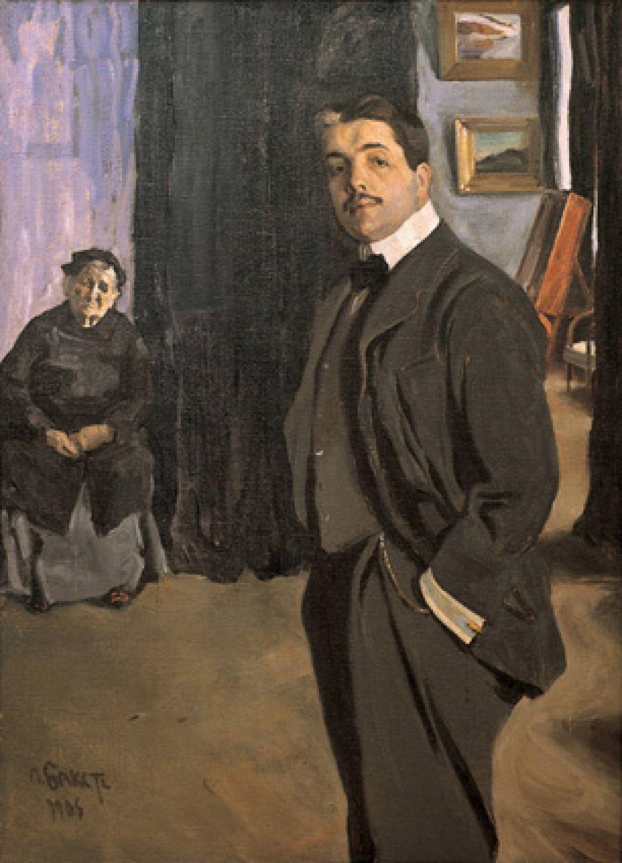 Портрет Дягилева с няней, 1906 год.