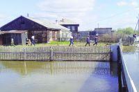 На север Омской области вода только пришла.