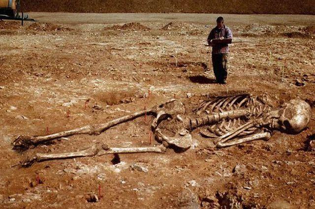 Археологи иместные жители регулярно находят останки больших людей.