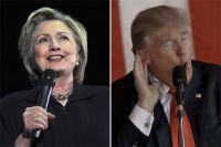 Хиллари Клинтон и Дональд Трамп.