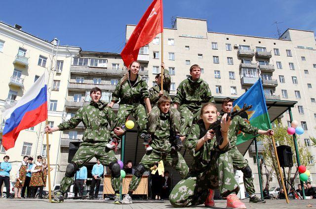 Показательное выступление военно-партиотического центра «Зенит»