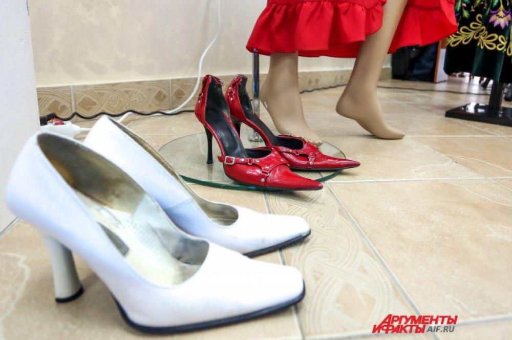 Концертные туфли Лилии Муллагалиевой.