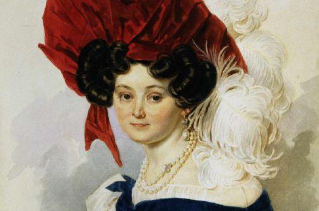Портрет Анны Орловой-Чесменской. Акварель П. Ф. Соколова, 1830-е