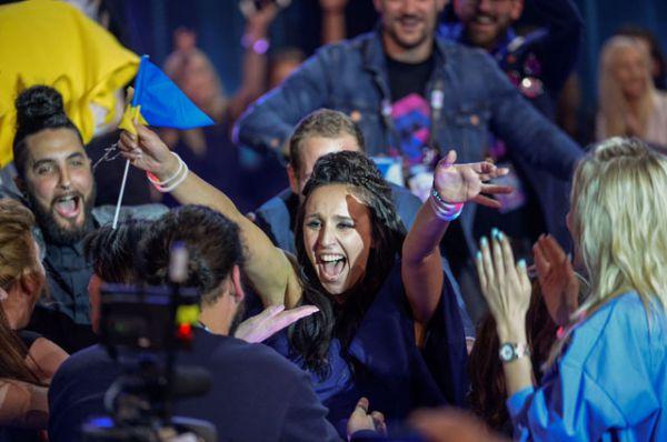 Певица Джамала в финале музыкального конкурса «Евровидение-2016».