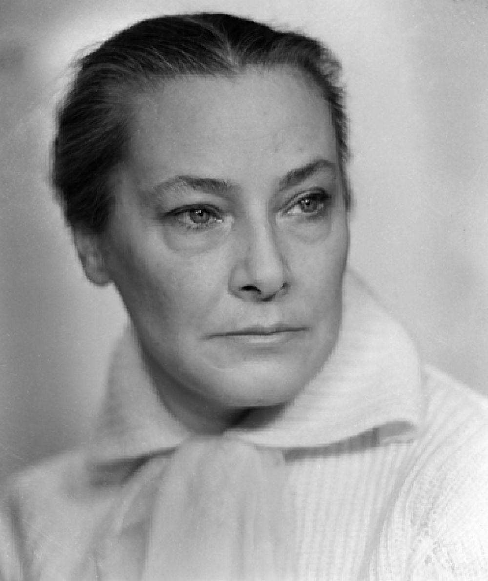 Народная артистка РСФСР Софья Пилявская, 1962 год.