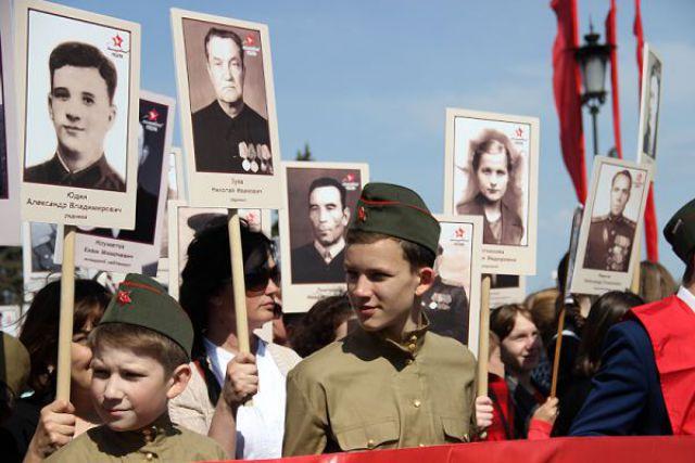 Бессмертный полк. Ульяновск, 9 мая 2016 года.