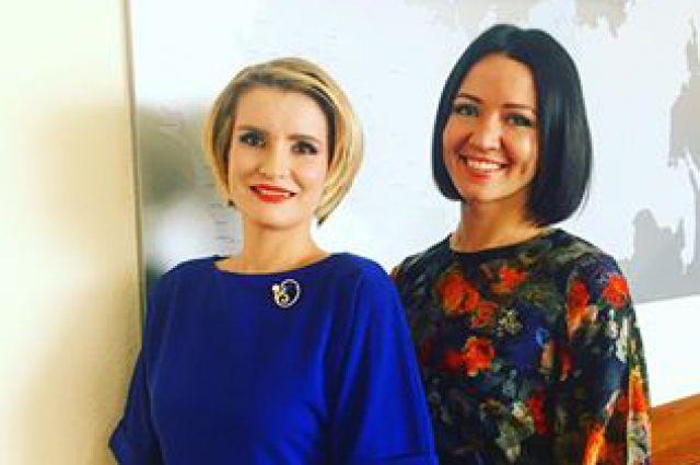 Елена Мироненко (справа) вместе со своим новым замом Натальей Гельруд.