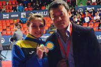 Ирина Ромолданова с тренером