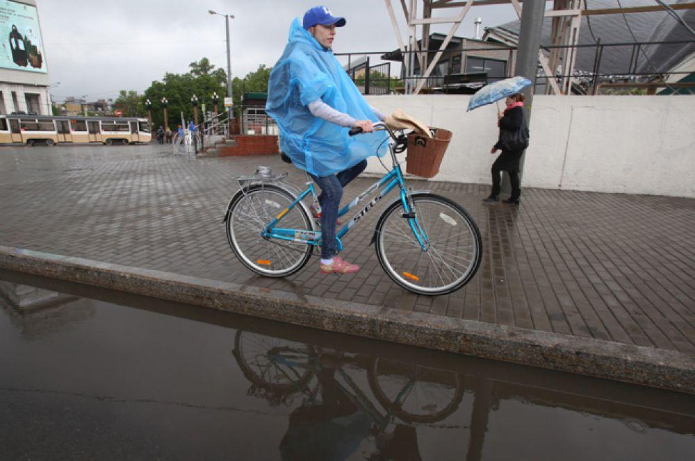 Участники акции «На работу на велосипеде».