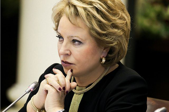 валентина матвиенко считает санкции отменить