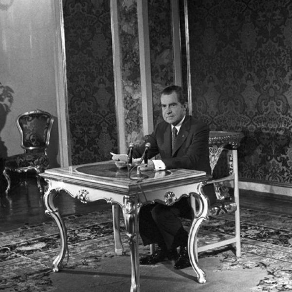 Выступление американского президента Ричарда Никсона на советском телевидении.