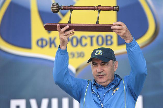 Болельщики чествовали  ФК «Ростов», завоевавшего серебряные медали в чемпионате России по футболу