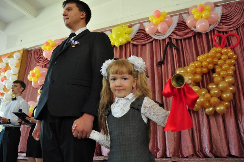 Последний звонок в одной из школ Омска.