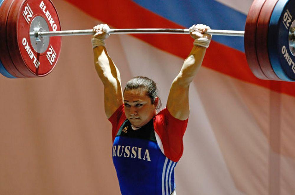 Надежда Евстюхина, тяжелая атлетика (бронзовый призер Пекина);