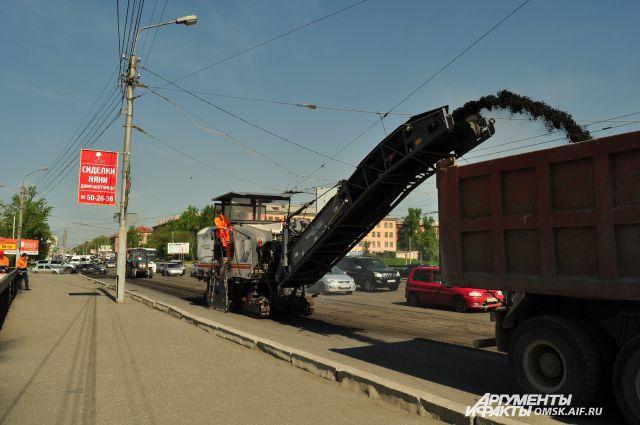 В городе активно идёт ремонт центральных улиц.